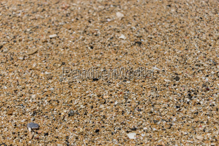 sand gravel on the sea as