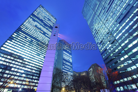 modern building to sky