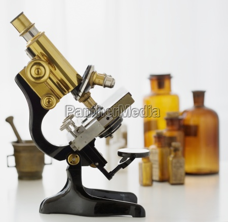 labratory microscope circa 1928