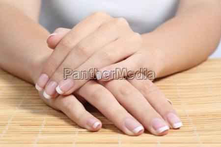 beautiful woman hands and nails with