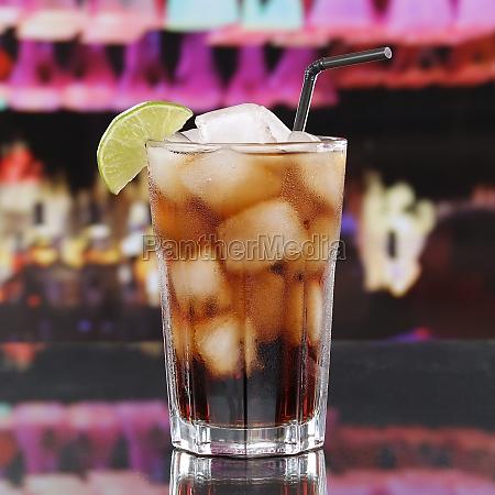 cola drink or cuba libre cocktail