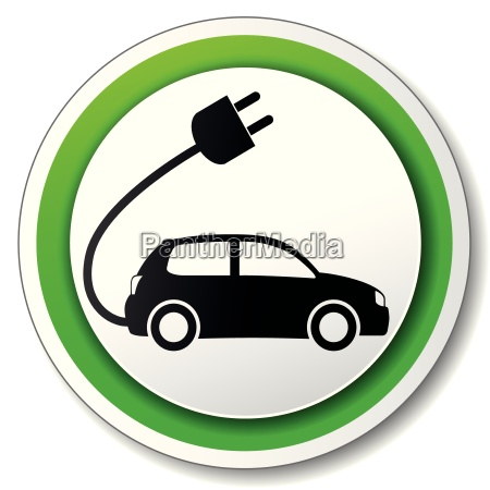 vector electric car icon