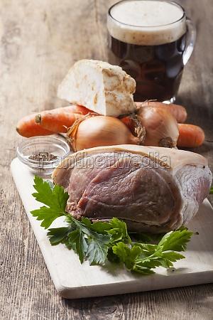ingredients for a roast pork