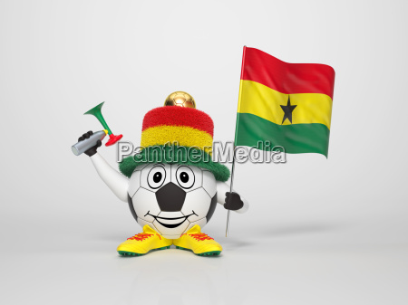 soccer character fan supporting ghana