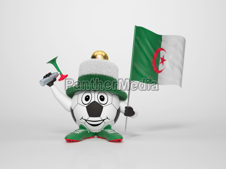 soccer character fan supporting algeria