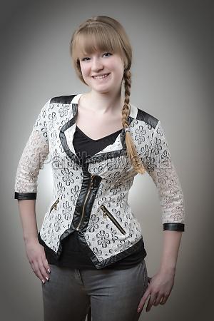 portrait blond girl