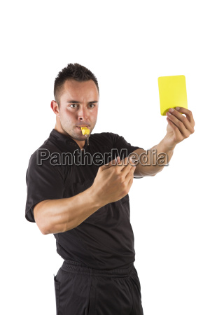 referee with yellow card optional