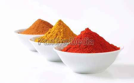 curry powder paprika and ground cinnamon