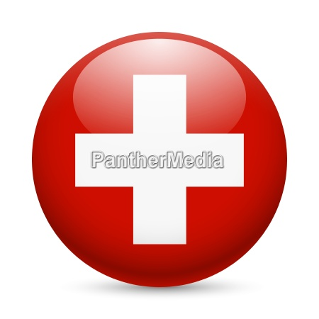 round glossy icon of switzerland