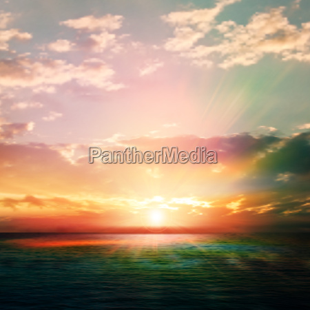 abstract nature background with sunrise and