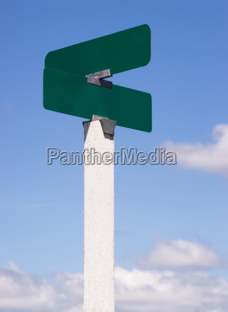 blank signs crossroads street avenue sign