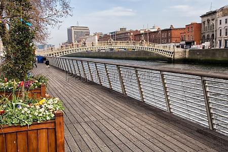 river liffey boardwalk in dublin