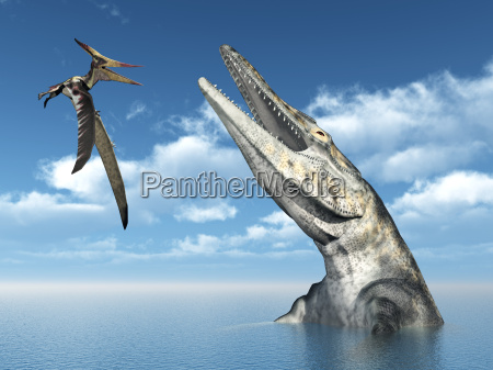 pteranodon and tylosaurus