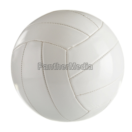 white leather volleyball isolated on a