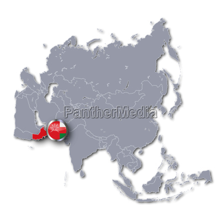 asia map with oman