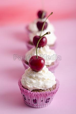 cupkake muffin cake birthday cherries