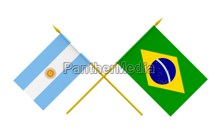 flags brazil and argentina