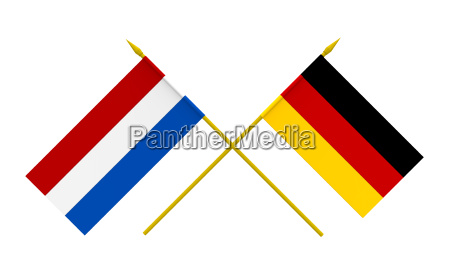 flags germany and netherlands