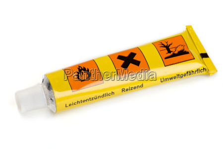 a yellow tube of glue