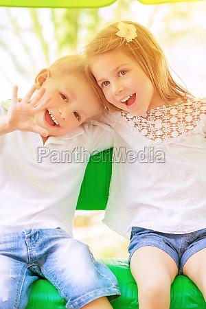 adorable children having fun