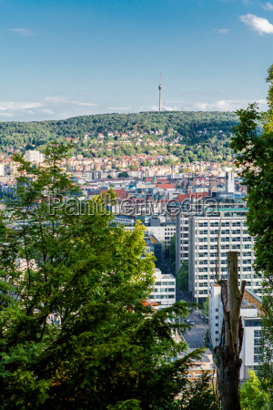 scenic view of stuttgart germany the