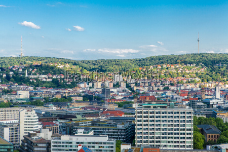 scenic view of stuttgart germany the
