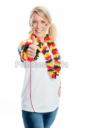 female blonde football fan