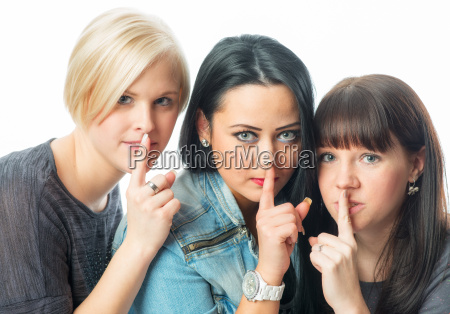 3 young girl with secret
