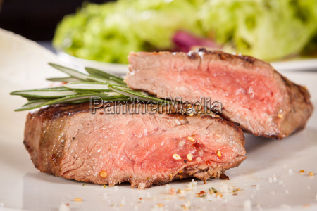 medium fried beef steak with pepper