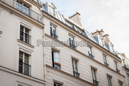 exterior of a parisian town house