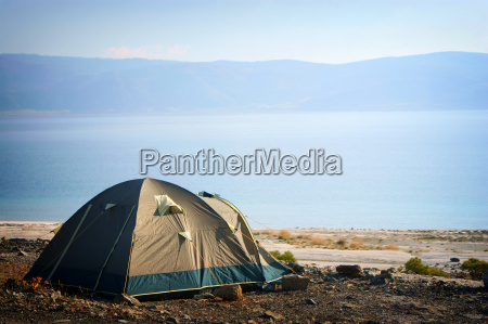 camping tent in the nature by