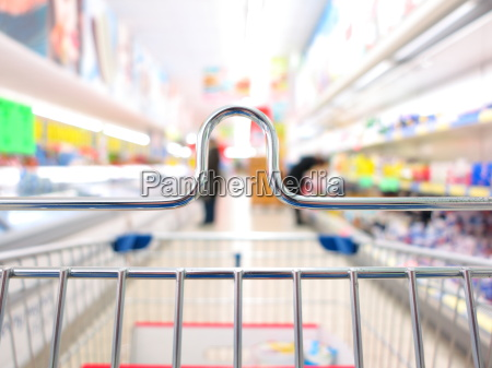 view of a shopping cart at