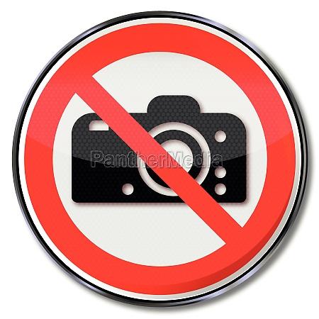 forbidden to photograph verbotsschild