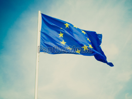 retro look flag of europe
