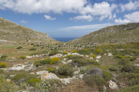 landscape in the north of karpathos