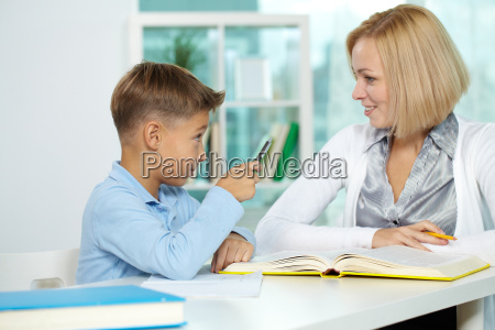 interacting at lesson