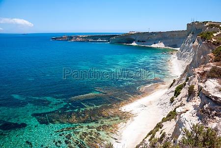 cliffs coast of malta