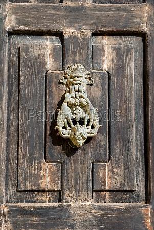wooden door closeup
