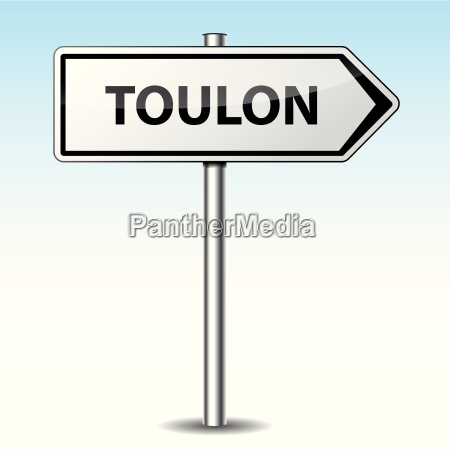 vector toulon directional sign