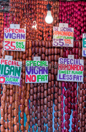 the well known sausages from vigan