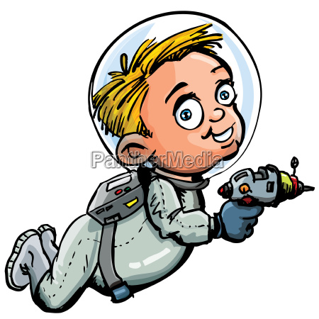 cute cartoon of spaceman with a