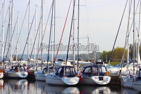 yacht harbor in east denamrk with