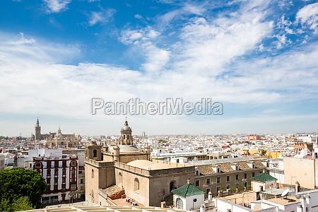 seville cityscape spain