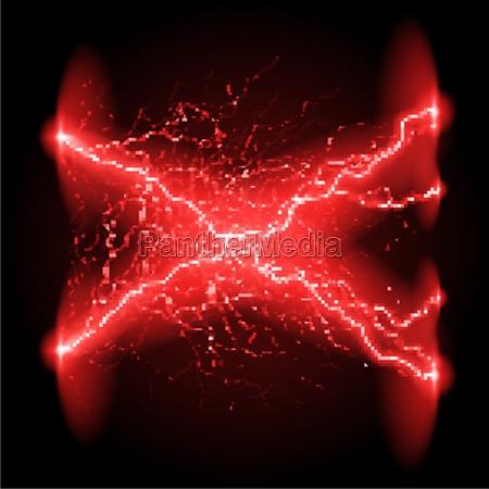 crosswise lightning lines