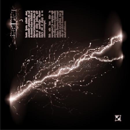 oblique lightning line