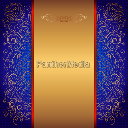 blue royal invitation card