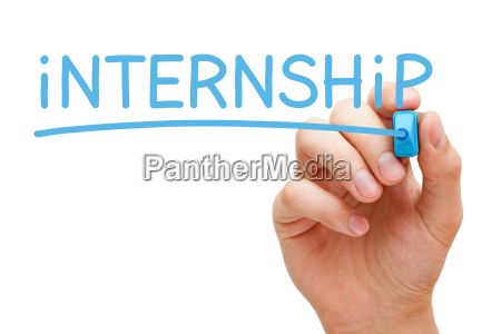 internship blue marker