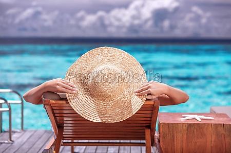 luxury female on the beach