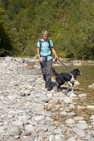 hiking near river