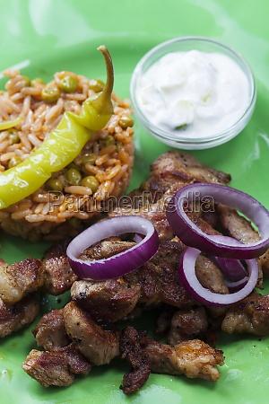 greek gyros on a plate